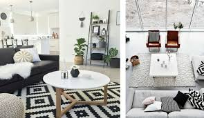 White Leather Living Room Design Classic And Chic Black And White Living Room Decor Decorilla