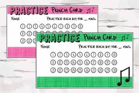 Teacher Reward Chart Practice Punch Card Music Reward Chart Music Teacher Material Pdf