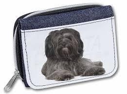 promotional tibetan terrier dog s las denim purse wallet birthday gift idea id 136865