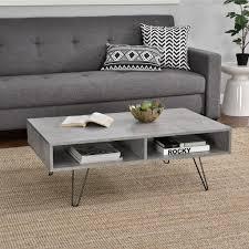 Encasa Couch Tisch Beton Optik 100x60x35cm Real