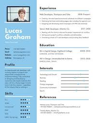 Blue And White Computer Frame Infographic Resume Templates By Canva