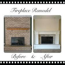 replace brick fireplace diy refacing brick fireplace with tile