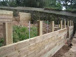 wood retaining wall bunnings