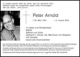 Traueranzeigen von Peter Arnold | WirTrauern