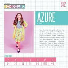 Lularoe Kids Size Chart Lularoe Azure Skirt Girls Kids Nwt 8 99 Picclick