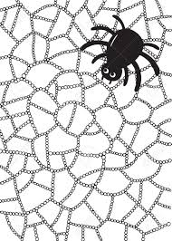 Water Drop Coloring Page Coloring Page With Spider And Web In Water Drops Or Raindrops