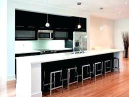One Wall Kitchen Designs With An Island Plans Custom Design Ideas
