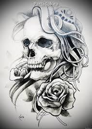 все изображения череп рисунок тату Heliographru