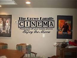 Small Picture Cinema Theatre customized sign home movie theater vinyl wall decor