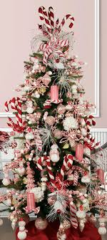 Candy Cane Theme Decorations 100 DIY Candy Cane Christmas Tree Ideas Guide Patterns 57