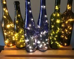 Decorative Wine Bottles With Lights Lighted wine bottle Etsy 4