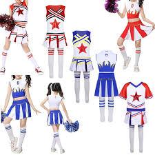 Child Girl School Cheerleader Costume Football Rugby Varsity