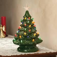 Ceramic Christmas Tree With Bird Lights Details About Grandmas Retro Nostalgic Ceramic Green Glaze Lighted Table Top Christmas Tree