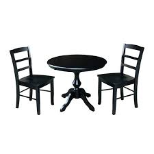 36 round kitchen table round dining table with leaf and 2 chairs black round dining table