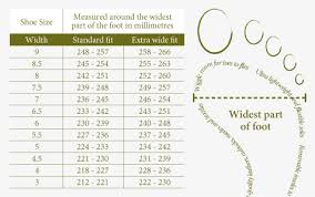 Printable Shoe Size Chart Width Www Bedowntowndaytona Com