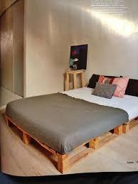modern style pallet bed frame