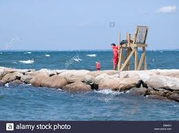 A Life Guard On Duty At Old Silver Beach In Falmouth