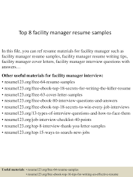 Facility Manager Resume Top224facilitymanagerresumesamples224conversiongate224thumbnail24jpgcb=124299245653 16