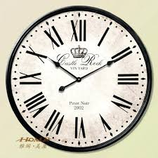 large wall clock i pare metal watch roman numerals numeral white