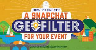 create snapchat geofilter