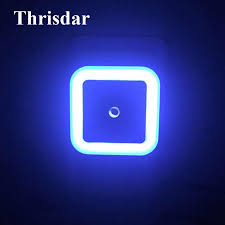 Blue Plug In Night Light Thrisdar Light Sensor Led Night Light Eu Us Plug Socket Wall