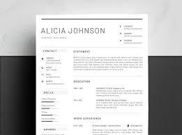 Resume Templates Design Minimalist Resume Template Resumes Tn