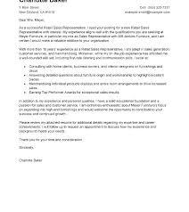 Sales Representative Cover Letter Sample Cover Letter Sample