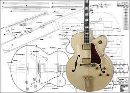 guitar parts n luthiers supplies parts materials gibson l5 ces® jazz guitar plan buy any 2 get 1