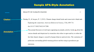 Apa Annotated Bibliography Example How To Do An Annotated Bibliography Apa Style Guide 6th Edition