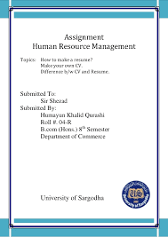 Cover Page For Assignment Free Download Assignment Resume
