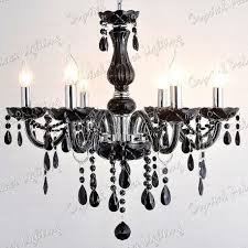 black crystal chandelier 6 arms