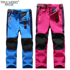 2018 <b>TRVLWEGO</b> Child <b>Winter</b> Inner Fleece Softshell Hiking Pants ...