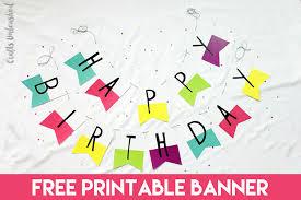 Birthday Banner Printable Free Printable Banner Happy Birthday Pennants Consumer Crafts