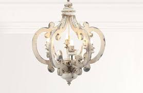 small white chandelier on decor steals distressed wood chandeliers for nursery