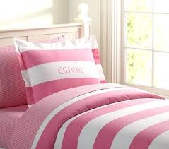 rugby stripe bedding twin duvet cover pink