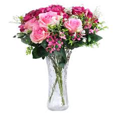 Amazon Com Estyle Fashion 1 Bunch 12 Heads Fake Roses