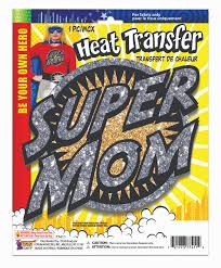 Details About Heat Transfers Super Mom Costume Accessories
