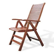 luxo milman fsc eucalyptus timber outdoor reclining chair australia