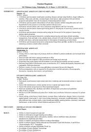Ophthalmic Assistant Resume Samples Velvet Jobs