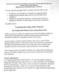 writing across the curriculum one math teacher s experience   each prompt is an essay for students to and analyze for math students across the county in grade 6 and 7 students an excerpt from