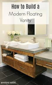 Image Floating Shelf Free Building Plans To Create Your Own Modern Diy Floating Bathroom Vanity That Could Double As Floating Tv Console Pinterest How To Build Diy Modern Floating Vanity Or Tv Console Bathroom