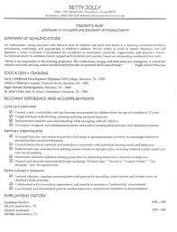 Sample For Teacher Resume Resume For Your Job Application