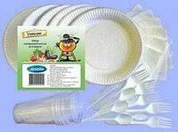 «<b>Набор</b> одноразовой посуды на <b>6</b> персон ( тарелки, стаканы ...