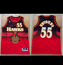 "Jerseys Atlanta Mutombo"" Prime — Throwback ""dikembe Hawks"