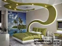 modern bedroom false ceiling with led strip lighting