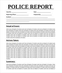 Crime Report Template Extraordinary 48 Sample Police Reports Sample Templates
