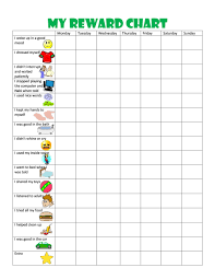 Reward Chart For 2 Year Old 44 Printable Reward Charts For Kids Pdf Excel Word