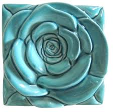 turquoise wall art rose tile canada on wall art tiles canada with turquoise wall art rose tile canada frivgame