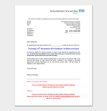 doctor appointment letter format