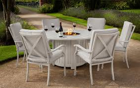 port6 portland round 6 seater dining set with fire pit 1225 5 uk